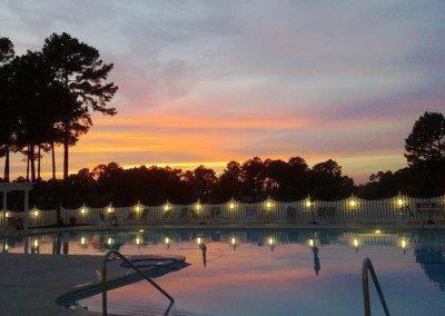 Coastal PJ  Sunset at Brunswick House pool 8.15.13