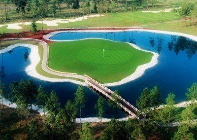 golf hole island green orton